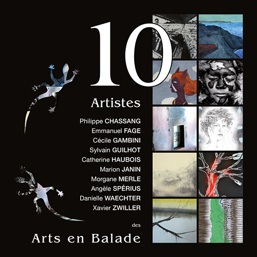 Catalogue exposition Arts en Balade 2016 (10 artistes) à l'AMAC - 63400 Chamalières